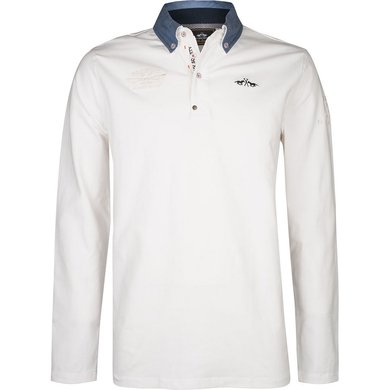 HV Polo Society Rugbyshirt Walsh Off White L