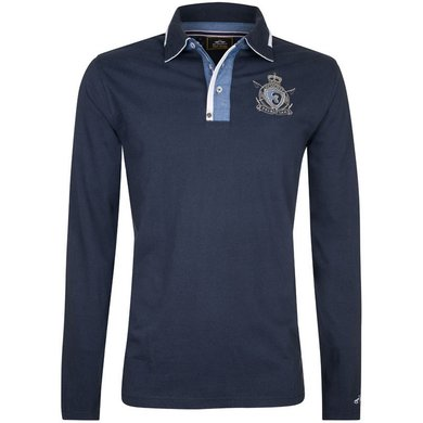 HV Polo Society Rugby Shirt Xanten Navy M