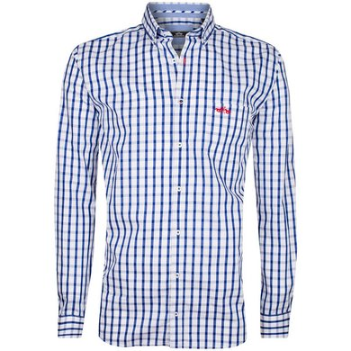 HV Polo Society Shirt Ike White-Navy S