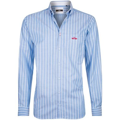 HV Polo Society Shirt Noam Blue-White XL