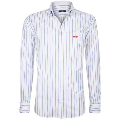 HV Polo Society Shirt Noam White-Blue L