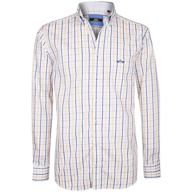 HV Polo Society Shirt Tymen Camel-White S