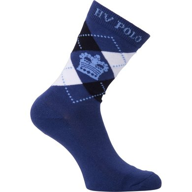 HV Polo Society Sokken Argyle Short Ink Blue Navy 35-38