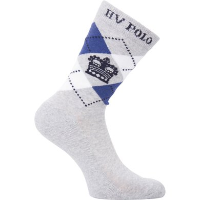 HV Polo Society Socks Argyle Short Silvergrey/Blue 35-38