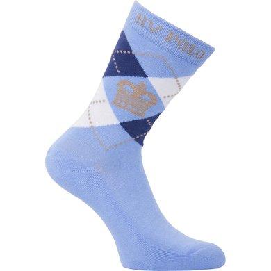 HV Polo Society Sokken Argyle Short Soft Blue-Ink Blue 35-38