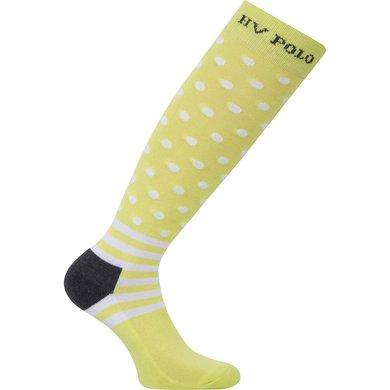 HV Polo Society Sokken Dots Lime Charcoal 35-38