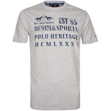HV Polo Society T-Shirt Dante Silvergrey Melange XS