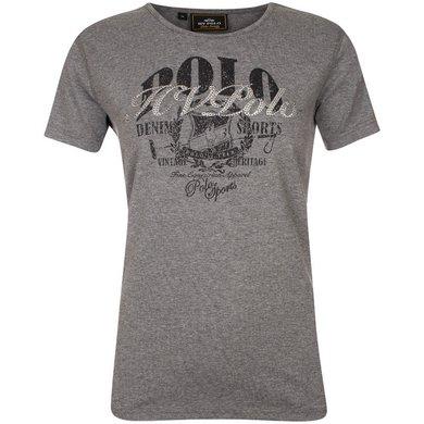 HV Polo T-Shirt Flo Mid Grey melange L