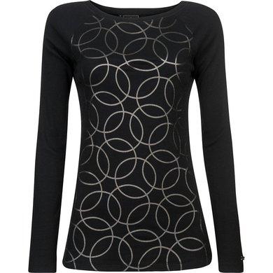 HV Polo Society Shirt rib jersey Zelena Black M