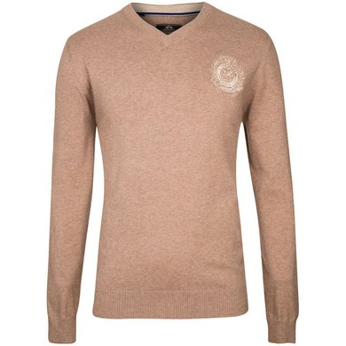 HV Polo Society V Neck Favouritas H Light Taupe Melange M