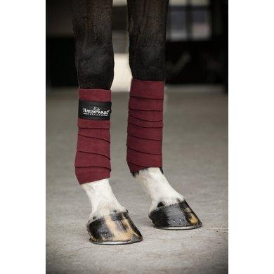 Horseware Fleece Bandages Pomegranate Schwarz