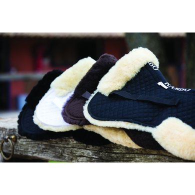 Rambo Sheepskin Half Pad Black