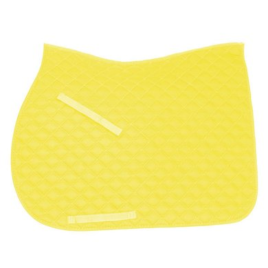 IR Tapis de Selle Economic Carré Polyvalent Néon Jaune Full