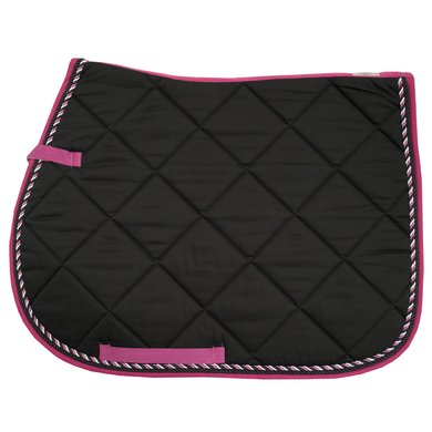 Imperial Riding Zadeldek Vierkant Vz Italy Black-DarkPink