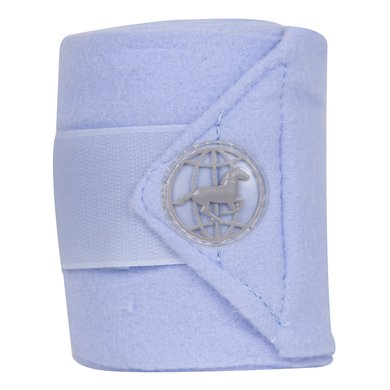 Imperial Riding Bandages Fleece Global Blauw 4st