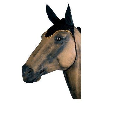 Imperial Riding Anti-Vliegen netje met oren gehaakt Zwart