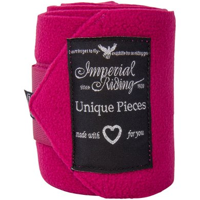 Imperial Riding Bandages Fleece Easy Going Deep pink