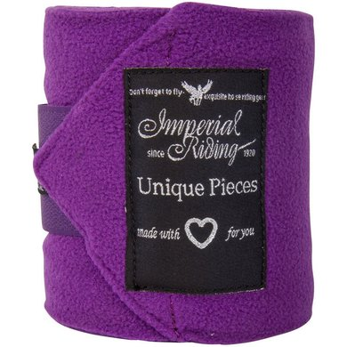 Imperial Riding Bandages Fleece Easy Going Purple