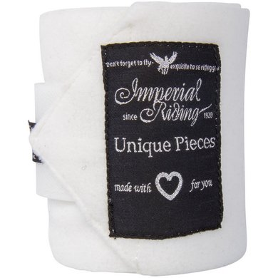 Imperial Riding Bandages Fleece Easy Going White