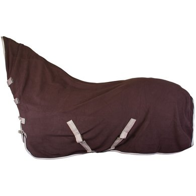 IR Zweetdeken fleece met singels en hals IR Basic Brown