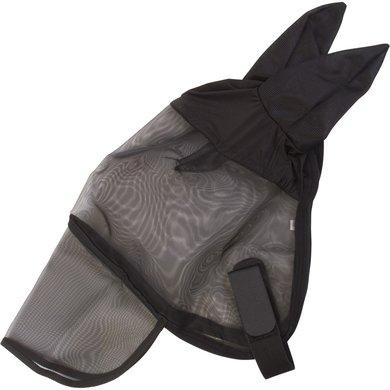 Imperial Riding Vliegenmasker met oren neusflap Black Pony
