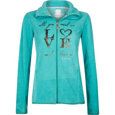 Imperial Riding Fleece vest Frozen Turquoise 152