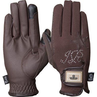 Imperial Riding Handschoenen Come To Win Brown XS