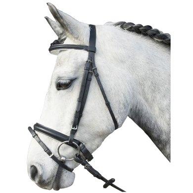 Imperial Riding Hoofdstel webteugel onderlegd Zwart/wit Full