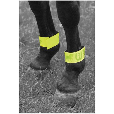 Imperial Riding Bandage Logo Velcro Reflective Green 33cm