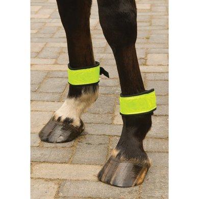 Imperial Riding Reflective Bandage met klemgesp Groen 35cm