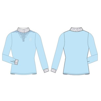 IR Shirt Snowfall lange mouw dames Light Blue XXS