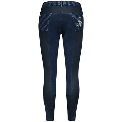 Imperial Riding Rijbroek Dina Fullseat Navy Lurex check 34
