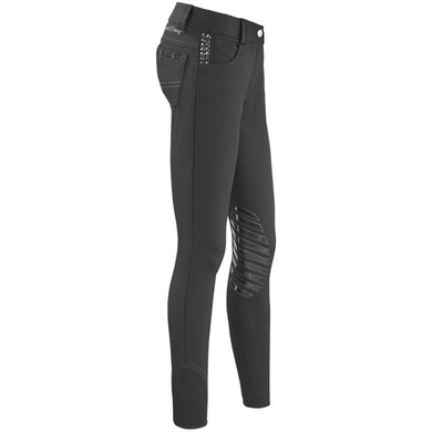 IR Rijbroek All Into Lily Silicon kneepatch Black 128