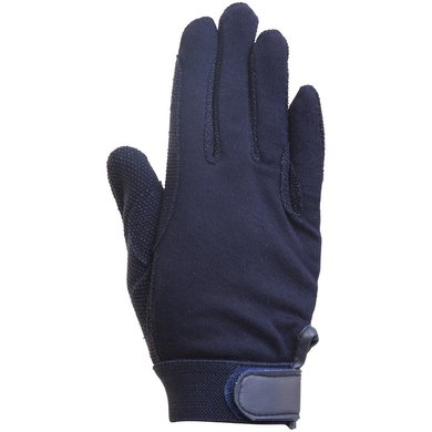 Imperial Riding Handschoen Katoen met noppen Navy Medium