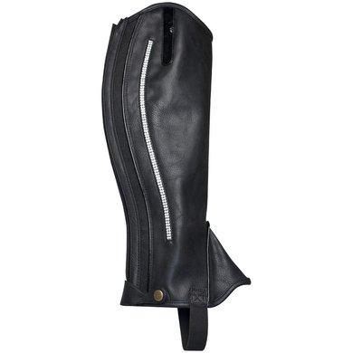 IR Mini Chaps Synetisch Leder Crystal Black-Silver