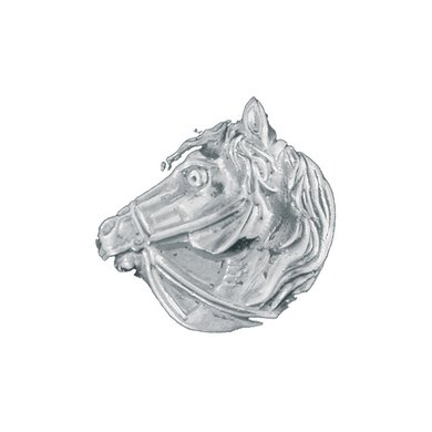 Imperial Riding Ornamenten Hoofd RVS per paar RVS 25mm