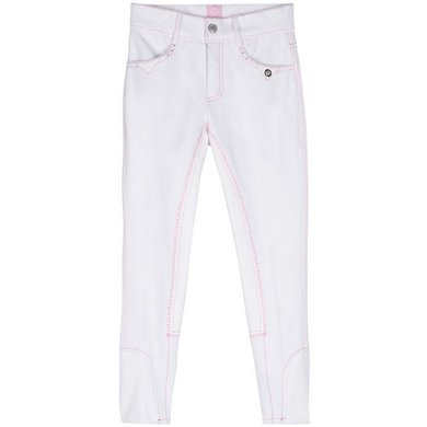 Imperial Riding Rijbroek Dancer FS White pink 128