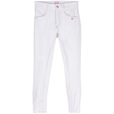 Imperial Riding Rijbroek Dancer SFS White pink 128