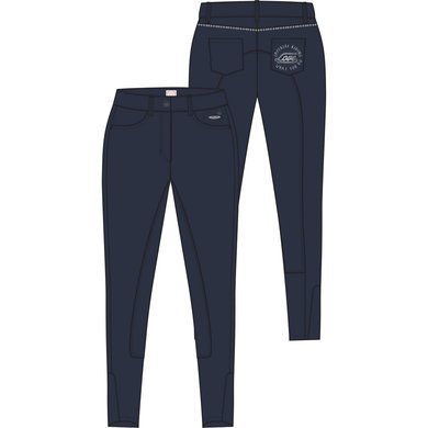 Imperial Riding Rijbroek Skyfall KP kids Navy 140