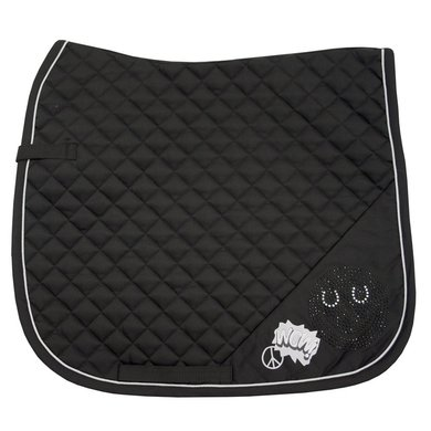 Imperial Riding Zadeldekje dressuur Smiley Black Full
