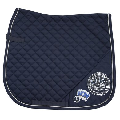 Imperial Riding Zadeldekje dressuur Smiley Navy Full