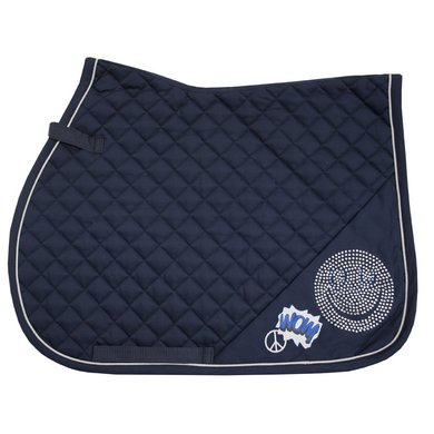 Imperial Riding Zadeldekje veelzijdig Smiley Navy Cob