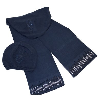 Imperial Riding Hat and Scarf Gloria Navy Onesize