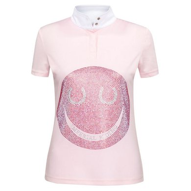Imperial Riding Shirt Smiley Dames Pink/Multicolor L
