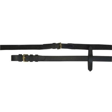 IR Springteugel web met koperen gespen Zwart/koper Full