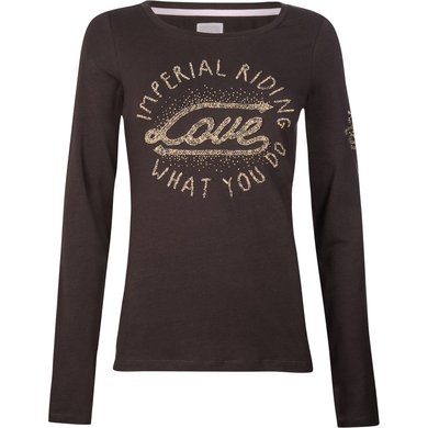 Imperial Riding T-shirt Winter Love Brown 164