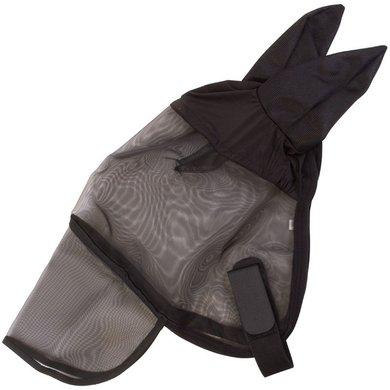 Imperial Riding Vliegenmasker met oren en neusflap Black Cob
