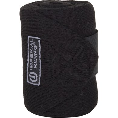 Imperial Riding Wool bandages Black 4 meter