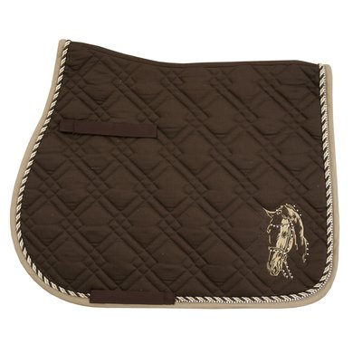 Imperial Riding Saddlepad VS Pisa Brown-Beige Full