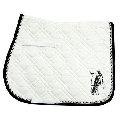 Imperial Riding Saddlepad VS Pisa White-Black Full